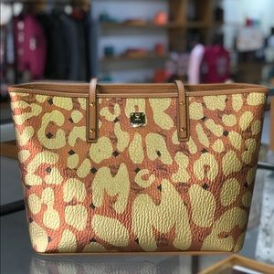 ❤️New Women MCM Leopard Anya Top Shopper Tote Bag